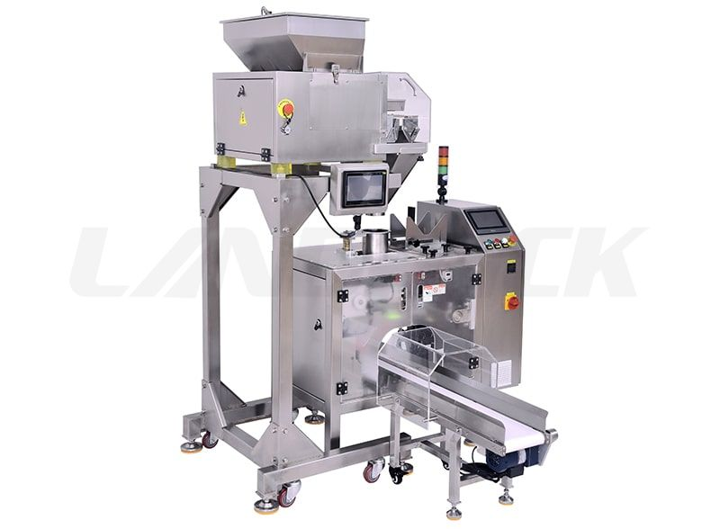 Semi-Automatic Mini Premade Pouch Packing Machine with 4 Head Weigher