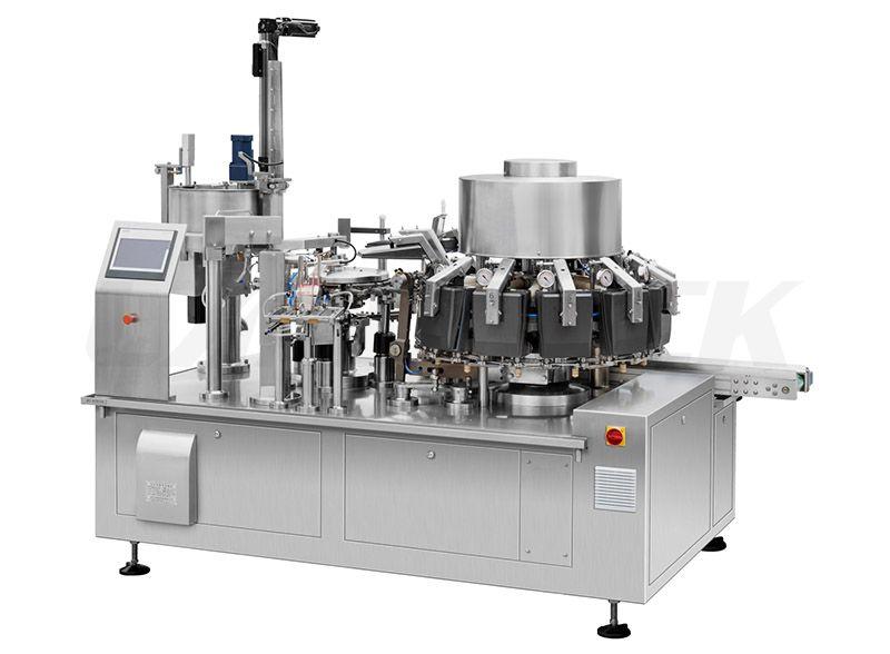 High Speed Snack Foods Vacuum Rotary Packing Machine