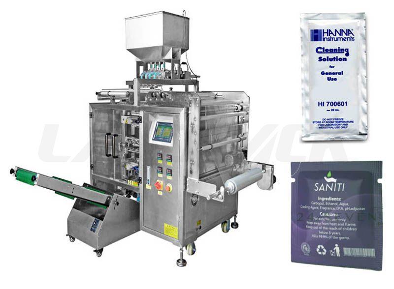 Multi Lane Sanitizer Liquid Sachet Packing Machine