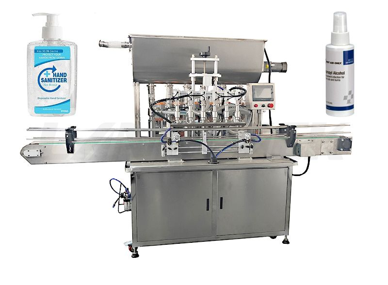 Automatic Hand Sanitizer Alcohol Liquid Bottle Filling Machine