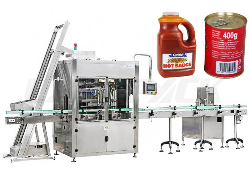 Automatic Sauce/ Jam/ Ketchup Bottling Filling Machine With Self Cleaning System