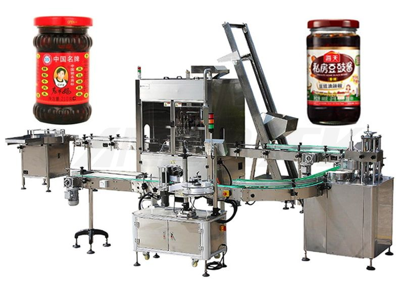 Automatic Sauce/ Ketchup/ Paste Filling And Capping Production Line