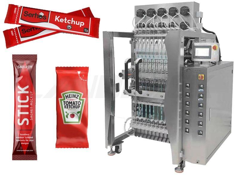 Automatic Multilane Liquid Stick Packing Machine For Sauce Ketchup Paste Jam etc