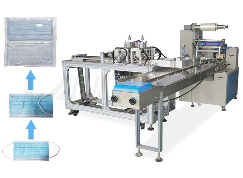 Full Automatic Surgical Masк Packing Machine with Folding Ear Rope Machine.