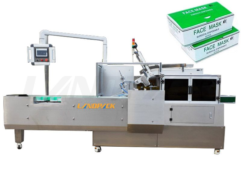 Full Automatic Face Masкs Carton Box Packing Machine