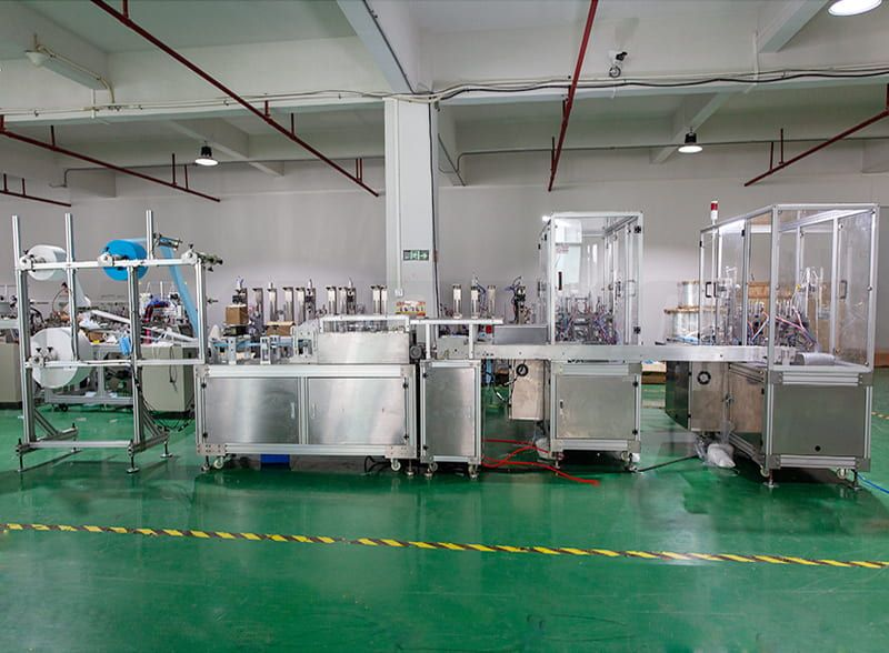 High Production Efficiency Disposable Surgical Face Masк Making Machine