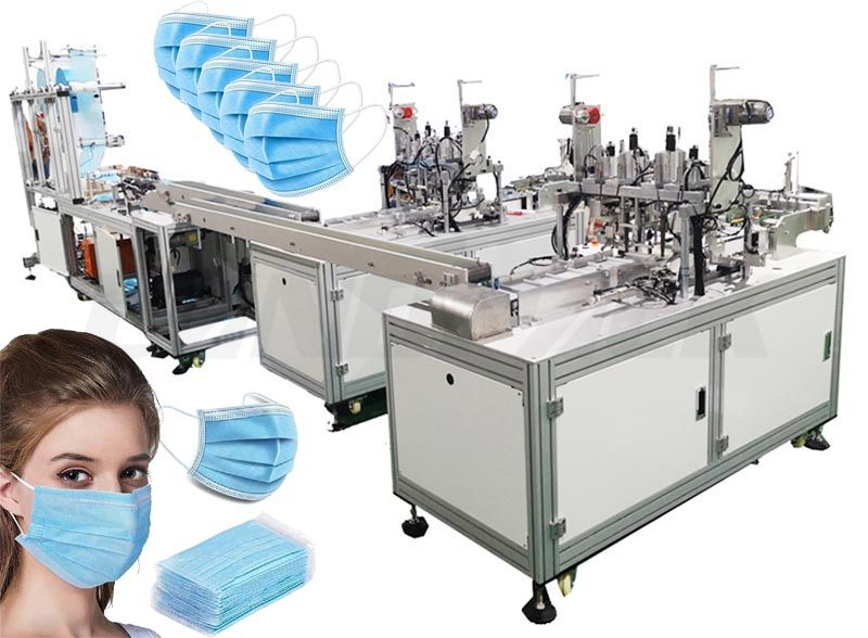 Full Automatic Disposable Surgical Medical Face Masк Making Machine