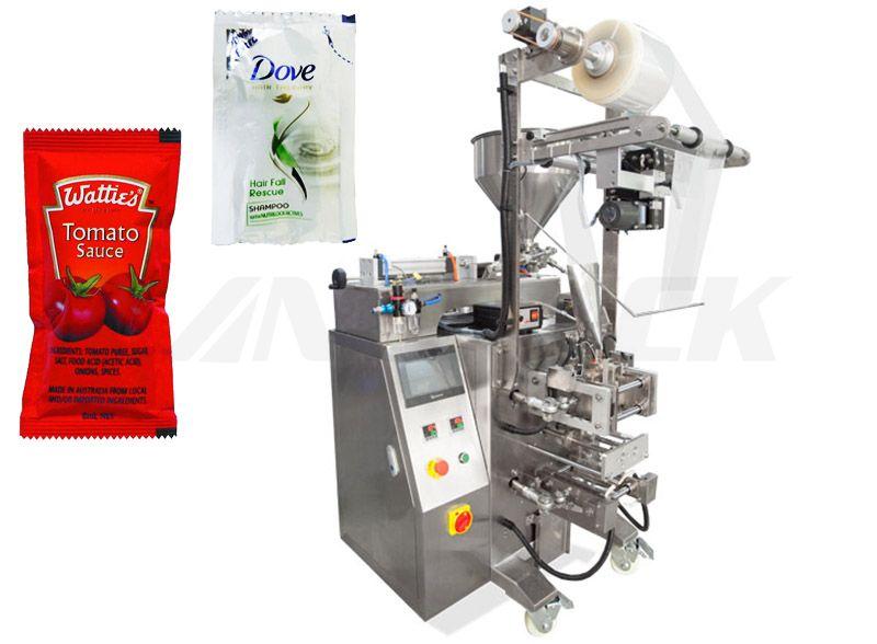 Multifunction Sauce/ Ketchup 4 Sides Seal Sachet Packing Machine