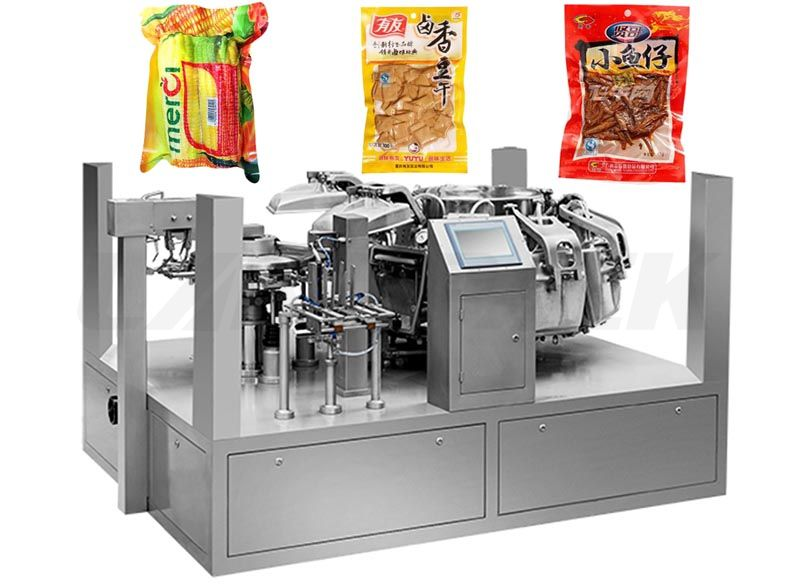 High Speed Big Pouch Vacuum Food Rotary Packing Machine