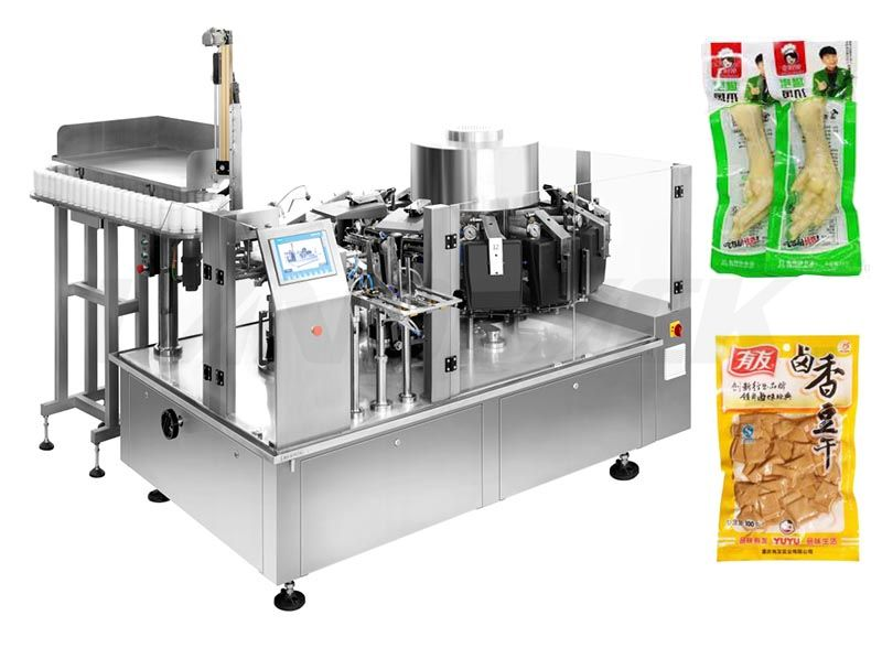 High Speed Vacuum Food Premade Pouch Packing Machine