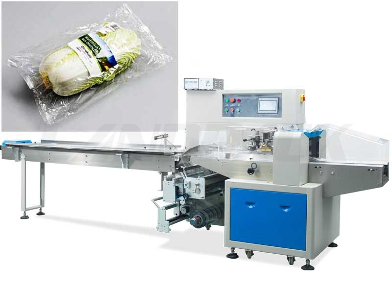 Automatic vegetable packing machine for packing lettuce, leafy, watercress etc.