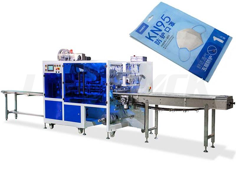 High Speed Double-Channel Four-Side Sealing Mask Packing Machine