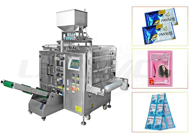 Multi Track 3/4 Side Sealing Bag Liquid Sachet Packing Machine