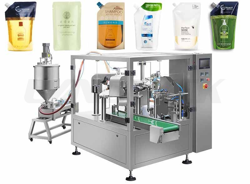 Automatic Premade Pouch Rotary Shampoo Filling Machine