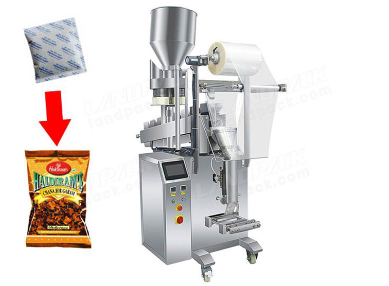 Nuts Mixed Desiccant Pouch Packing Machine With Volumetric Cup And Chain Bucket