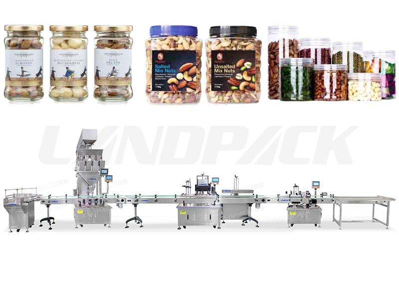 Automatic Granule Weighing Filling Capping Labeling And Sealing Lines