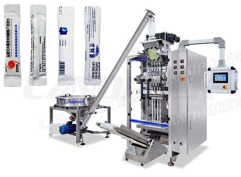 Automatic 4 lane Powder Stick Packing Machine With Screw Feeder