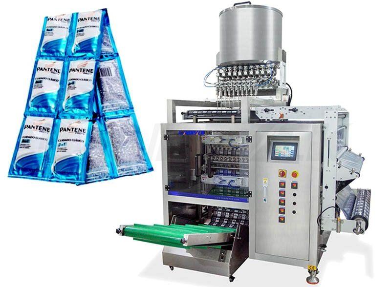 High Speed Automatic 10 Lanes Liquid Sachet Packaging Machine