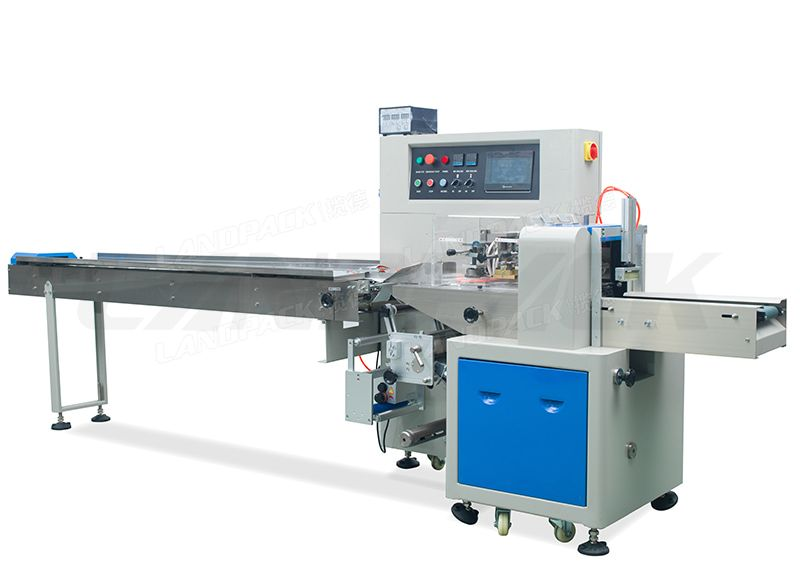 Down Paper Flow Wrapping Machine With Three Servos