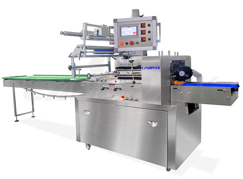 Full 304 Stainless Steel Flow Pack Machine With Three Servos