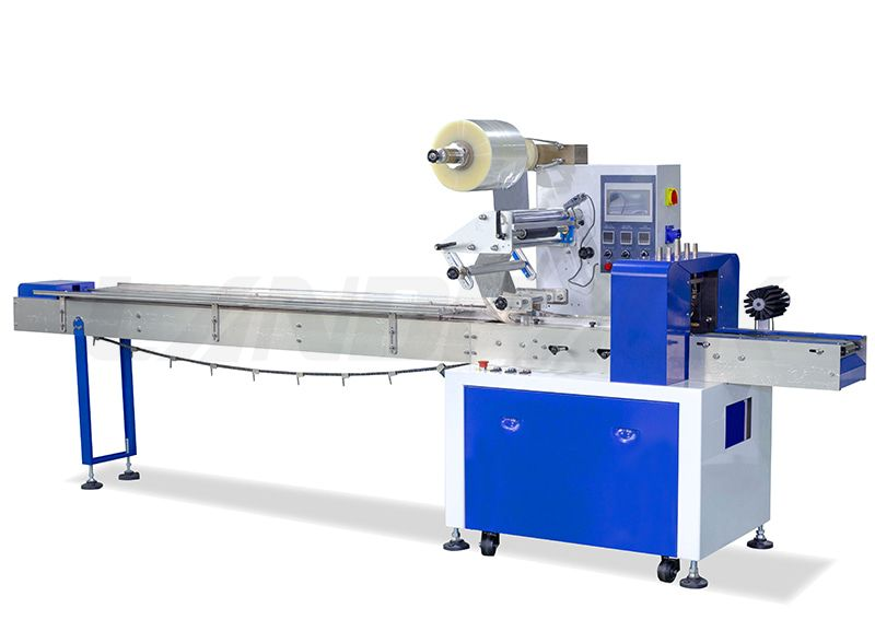 Automatic Flow Packing Machine (Up Paper) With Three Servos
