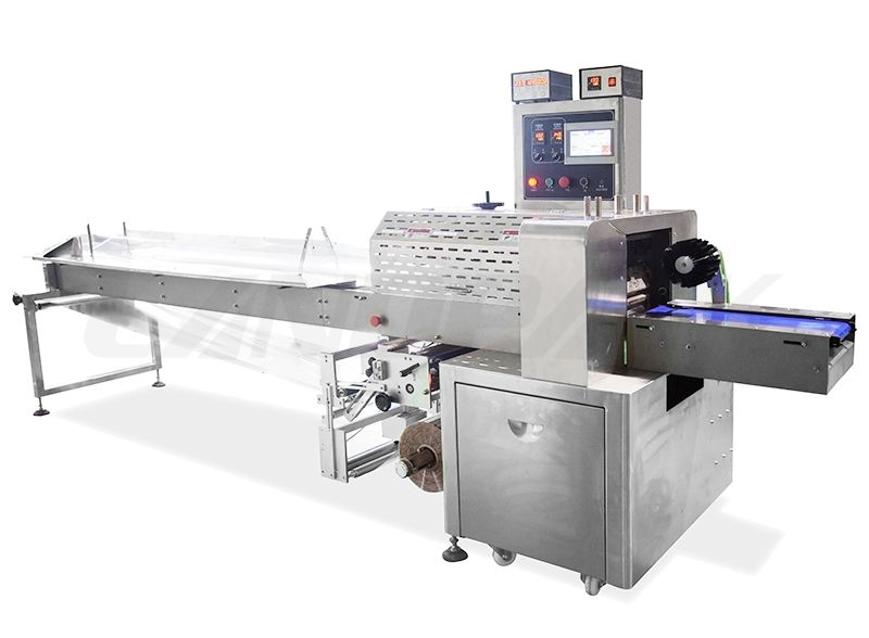 Back Stretch Flow Packing Machine For Wet And Sticky Product