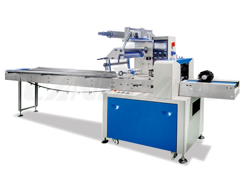 Automatic Horizontal Flow Wrap Machine Double Frequency Control